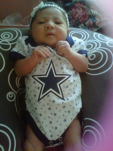 Bella in her Cowboys Gear