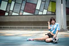 [フリー画像] 人物, 女性, アジア女性, サッカー, 201008132100
