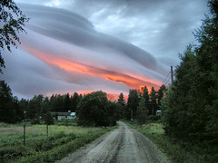 HDR clouds in late evening Sweden