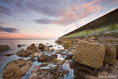 Boulderdash (Azzmataz) Tags: sunset pier boulders blocks tynemouth anthonyhallphotographic