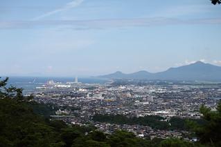 view from 春日山城跡本丸