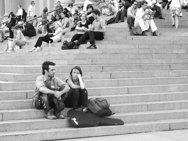 On the Steps of the Met