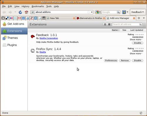 Firefox 4.0b3 - Ubuntu Linux 8