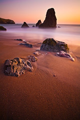Rodeo Beach (chris lazzery) Tags: sanfrancisco california longexposure sunset beach 5d marinheadlands rodeobeach canonef1740mmf4l bw30nd