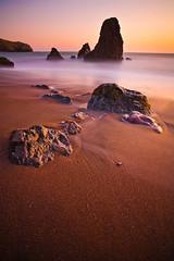 Rodeo Beach (chris lazzery) Tags: sanfrancisco california longexposure sunset beach 5d marinheadlands rodeobeach canonef1740mmf4l bw30nd