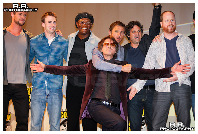 Movie Panel The Avengers at Comic-Con 2010 by tjplebe