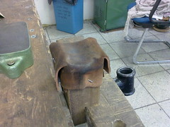 leather saddle stake
