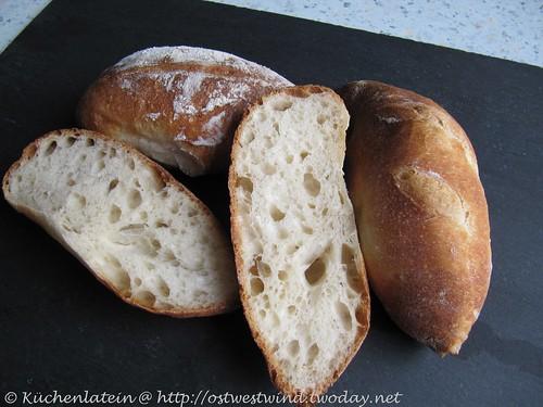 Mini-Baguettes mit Pâte Fermentée - Hamelman 001