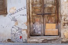 (Noa Ka) Tags: world door camera city brown streetart art wall photography israel photo telaviv fuji photos il ta nevezedek s5700
