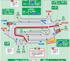 首都高 浜町入口 間違ったルート