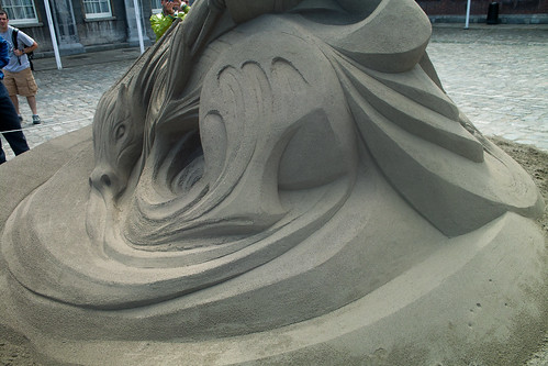 The sixth Dublin Sand Sculpture Exhibition - Upper Courtyard Dublin Castle