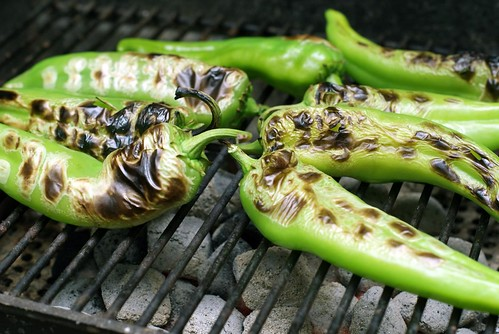 Fire-roasted green chiles