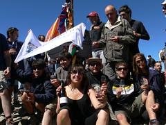 Foto de grup amb la Teresa de Terra Remota al centre