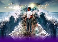En esta tierra de Dios... (conejo721*) Tags: argentina mar amor olas hombre palabras mardelplata poesa poema sentimientos creacin aguasabiertas conejo721