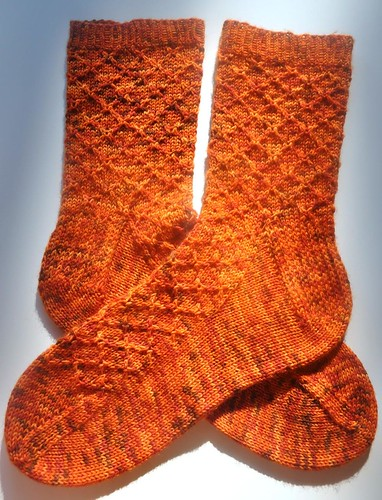Lattice socks done-1