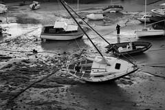 Le port de Locquirec (Guillaume Chanson) Tags: sea blackandwhite mer port canon boat noiretblanc bateau côtesdarmor côtedegranitrose pèche locquirec canoneos450d
