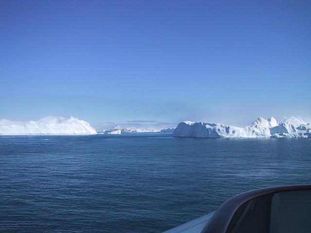 Greenland Icebergs on the Horizon