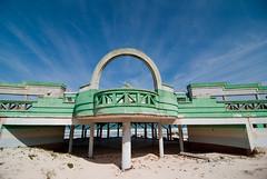 beach pavilion (ipickmynose) Tags: abandoned beach southafrica amusement sand decay capetown pavilion urbex defunct macassar winter2010 urbexsa