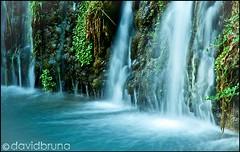 Turquoise Waterfall (David Bruna Photostream) Tags: blue light sunset summer green water clouds landscape photography waterfall agua ripple wave cascada