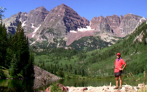 Rick at Maroon Lake, Colorado