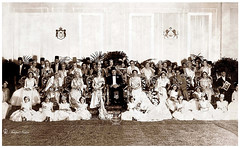 A Commemorative Photograph of The Wedding of King Farouk's Sister Princess Fawzia & The Crown Prince of Iran Mohamed Reza Pahlavi -  Cairo In 1939 (Tulipe Noire) Tags: africa wedding photo 1930s king princess 1938 formal egypt middleeast royal prince farouk queen ali cairo egyptian nazli reza mohamed commemorative shah farida faiza pahlavi malak sultana fawzia nimet fayka