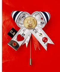 Sail Away bow (RJL Designs) Tags: fashion handmade brooch jewelry wearableart oragami textileart harajukugirls tapemeasure fabricjewellery fashionjewellery contemporaryjewellery artjewellery textilejewellery retrojewellery catwalkjewellery tapemeasurejewellery rjldesigns