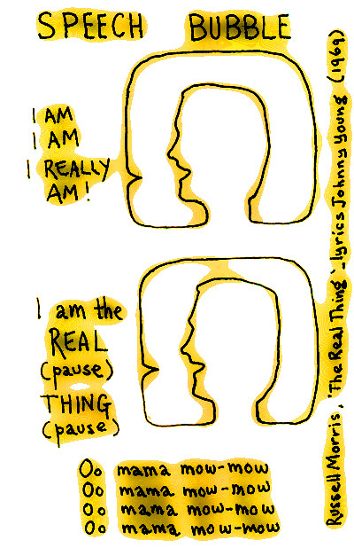 2010.08_Speech Bubble_ I am the real thing!_ yellow_400