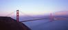 Golden Gate Bridge in Pink (Douglas Bawden Photography) Tags: sanfrancisco california pink ishootfilm goldengatebridge epson marinheadlands largeformatcamera fujivelvia100 toyo45cf largeformatfilm gossenlunasix3 iconiclandmark epsonv750mpro fujinon90mmf80sw