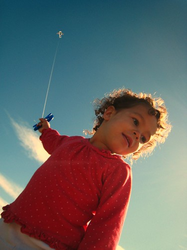 Kite Flying on the Downs