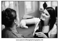 Bridesmaids applying make-up (JasonNoffsinger) Tags: wedding monochrome blackwhite colorado makeup boulder nikonf100 bridesmaid co neopan400 gettingready nikon50mmf14 chautauquacommunityhouse legacypro400 richardphotolab