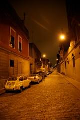 España, Barcelona : calle, la noche.