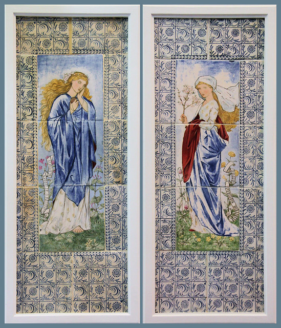 "Ariadne and Phyllis from Chaucer's ""The Legend of Good Women"" - designed by Burne-Jones and William Morris, 1870"