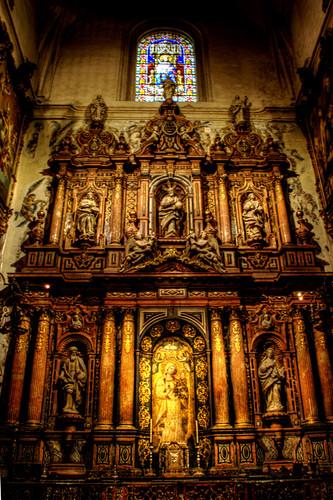 Seville cathedral chapel. Capilla de la catedral de Sevilla