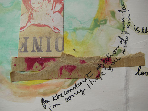 "Art Journal ""lost in relations"" p.3 (détail)"