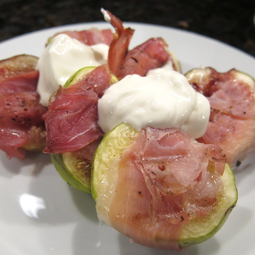 Grilled Prosciutto Wrapped Figs & Marscapone