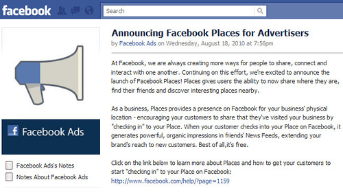 Announcing Facebook Places for Advertisers