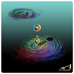 experimenting a droplet.......Adobe Photoshop CS3