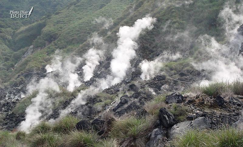 磺山溫泉的噴氣景觀