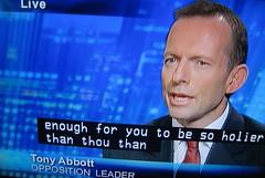 Mr TONY ABBOTT LEADER OF THE OPPOSITION