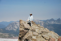 Your correspondent at St. Elmo Pass, Mount Rainier National Park, WA