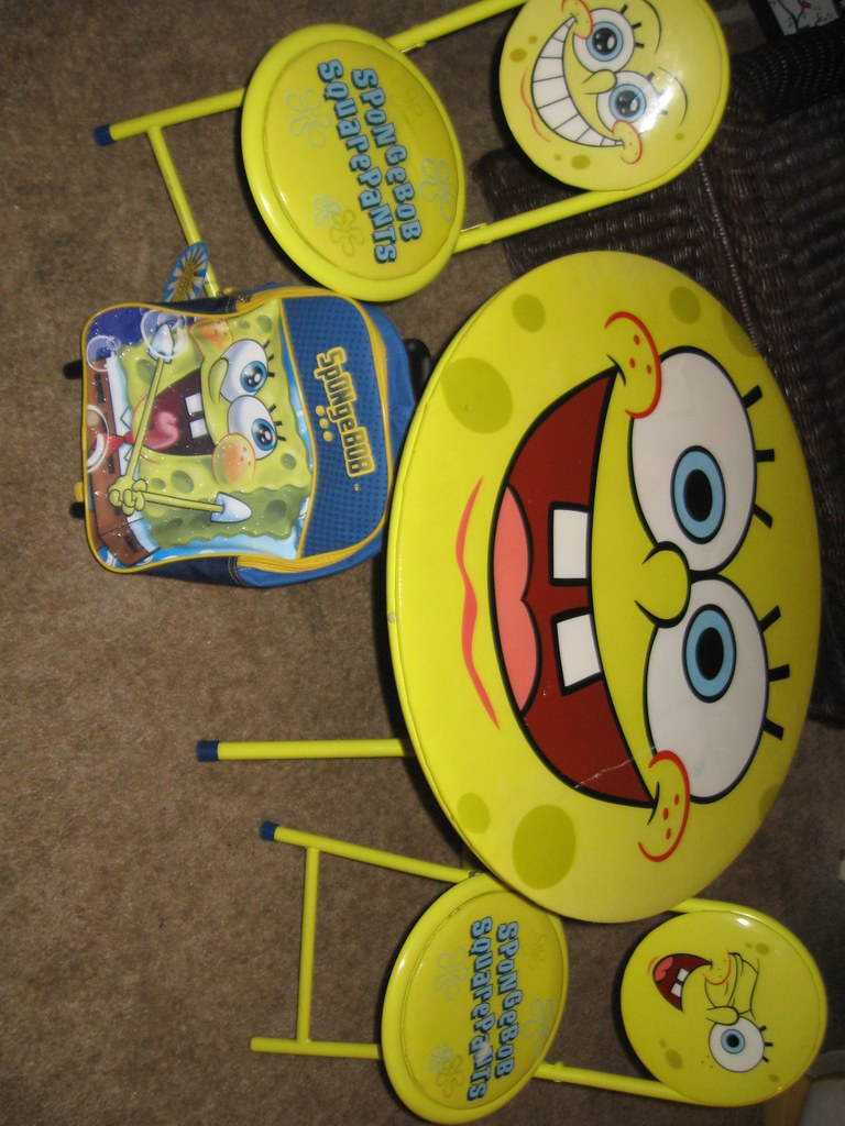 Sponge Bob Table and chair Set with Backpack