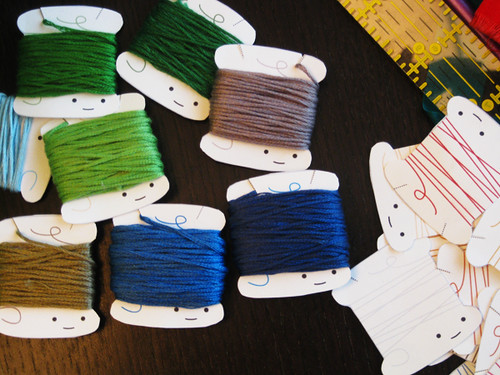 Cute. Thread Bobbins