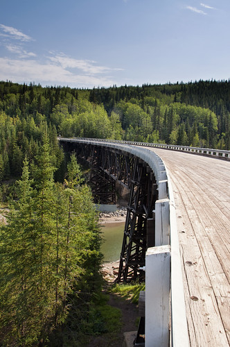 Alaska Highway Kiskatinaw Wooden Bridge