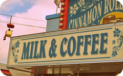 Cinnamon Rolls, Milk and Coffee.... (LuckyNumber 13 {Amy}) Tags: summer sign milk illinois august cinnamonrolls oldsigns vintagesigns coffeestatefair