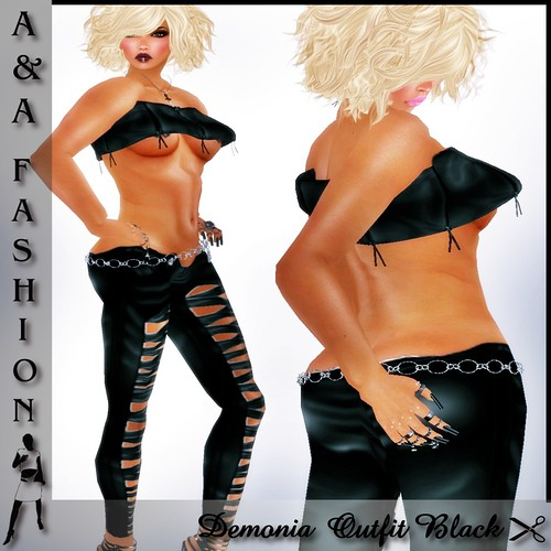 A&A Fashion Demonia Outfit  Black