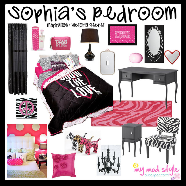 Design Board - Victoria Secret Bedroom
