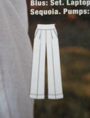 The Katherine Hepburn Pants. Burda 07/2010 no. 127