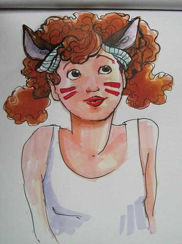 Chica canguro // Kangaroo girl