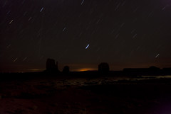 Monument Valley by night