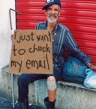 Florida Homeless Man (cap.news) Tags: sign funny comedy florida satire homeless internet humor cardboard wifi parody